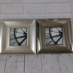 2x silver square 3x3 picture photo frames